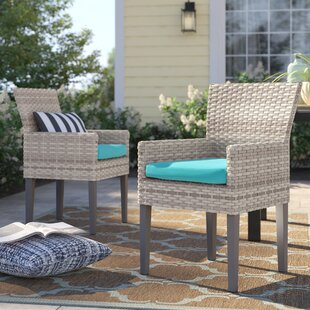 Falmouth Patio Dining Chair with Cushion (Set of 2)