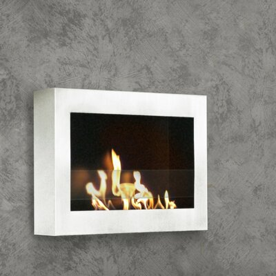 Anywhere Fireplace Soho Wall Mounted Bio-Ethanol Fireplace Finish: White