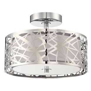 Colyn 2-Light Semi Flush Mount by Orren Ellis