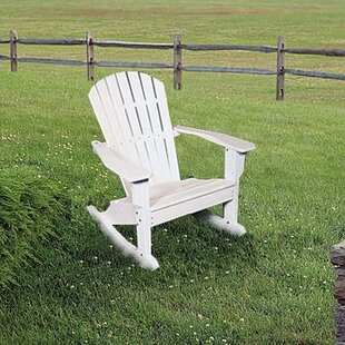 Seaside Casual Plastic Rocking Adirondack Chair