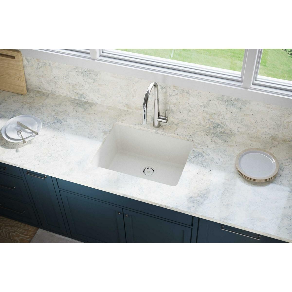 Elxu2522rt0 Quartz Luxe 25 L X 19 W Undermount Kitchen Sink