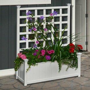 Huron Plastic Planter Box With Trellis