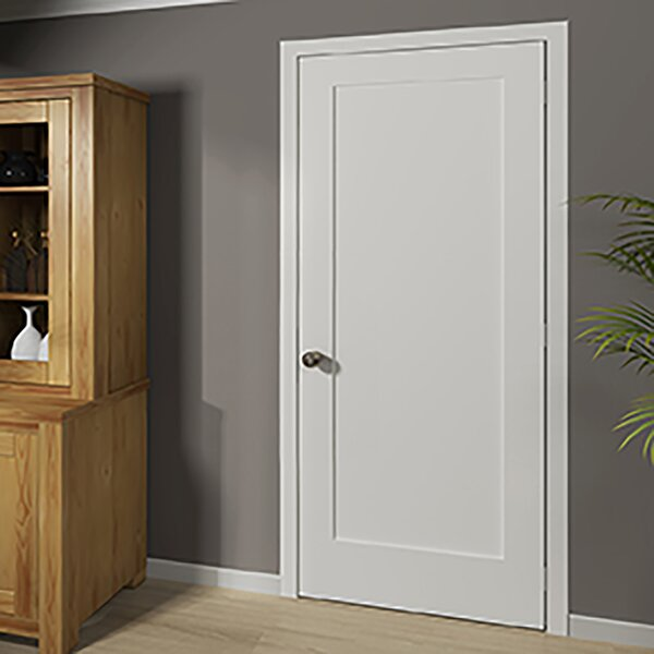 KIBY Shaker 1 Panel Wood Slab Interior Door U0026 Reviews | Wayfair