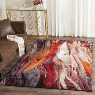 Brodick Red/Gray Area Rug by Wade Logan