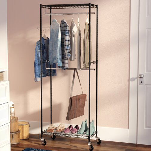 Medlin 38 in. W Double Rod Garment Rack