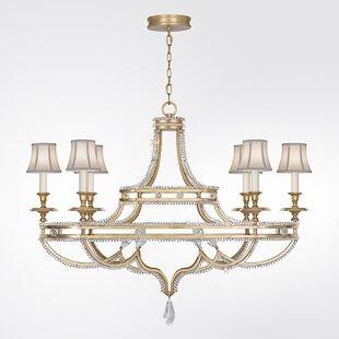 Fine Art Lamps Prussian Neoclassic 6-Light Shaded Chandelier