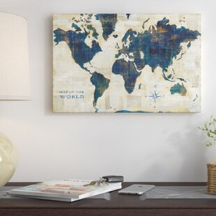 World map push pin wayfair world map collage graphic art on wrapped canvas gumiabroncs Images