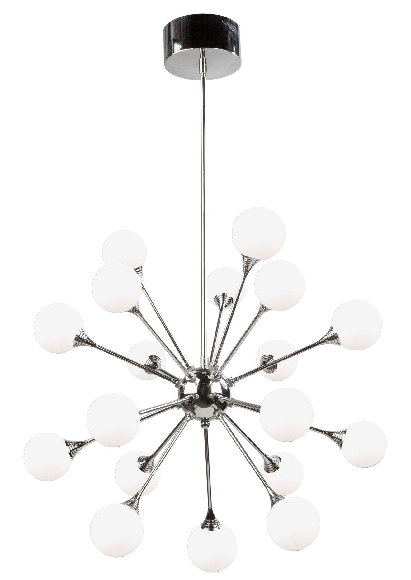 half off 0dd2c d38bc Luna 18-Light LED Sputnik Chandelier
