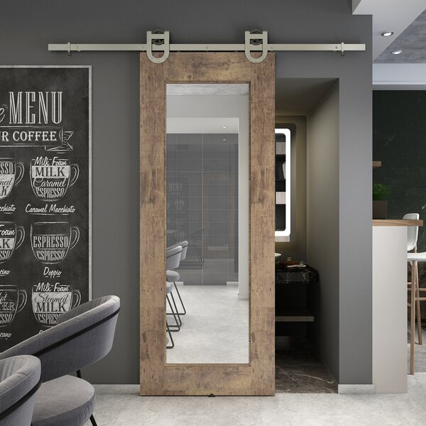 Colonial Elegance Reflex Mirrored Barn Door Without