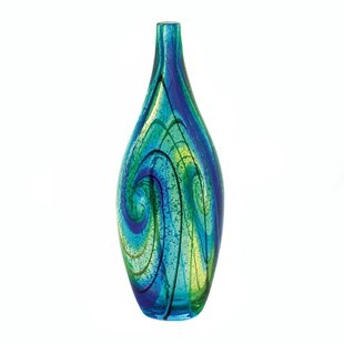 Ruzicka Swirl Art Glass Table Vase