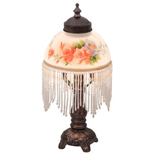 Riccio Rose Bouquet Fringed 13 Table Lamp