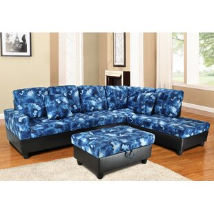 Keese Sectional with Ottoman by Ebern Designs