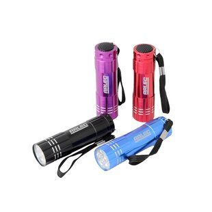 Pinero Red/Blue Battery Powered LED Outdoor Flashlight By Sol 72 Outdoor