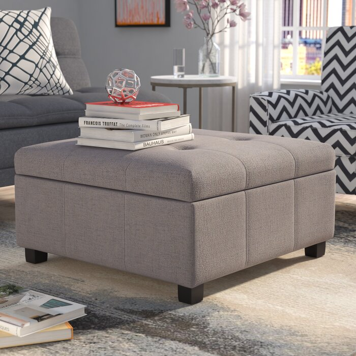 Excellent Ernestine Storage Ottoman Gmtry Best Dining Table And Chair Ideas Images Gmtryco