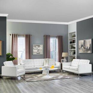 Gayatri 3 Piece Leather Living Room Set By Orren Ellis