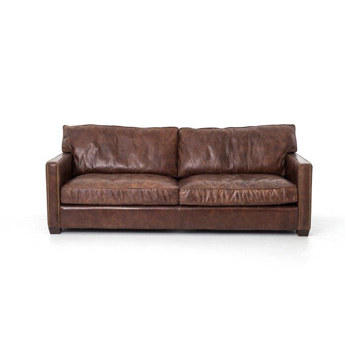 Grandfield Nailhead Leather Sofa