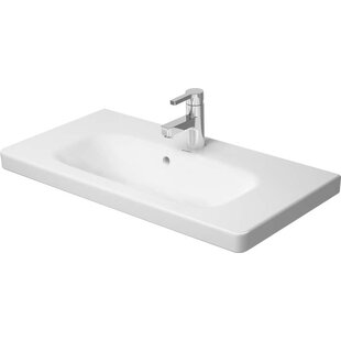 Great choice DuraStyle Ceramic Rectangular Vessel Bathroom Sink with Overflow By Duravit