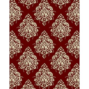 Fales Red Area Rug by Charlton Home