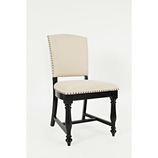 Armless Upholstered Dining Chair (Set of 2) Benzara