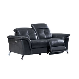 Tom Electric Leather Reclining Loveseat b..