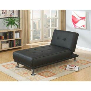 Wrought Studio Suniga Modern Living Room Adjustable Reclining Chaise Lounge with Cushion