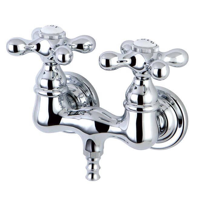 Kingston Brass Vintage Double Handle Wall Mounted Clawfoot Tub Faucet Trim Reviews Wayfair