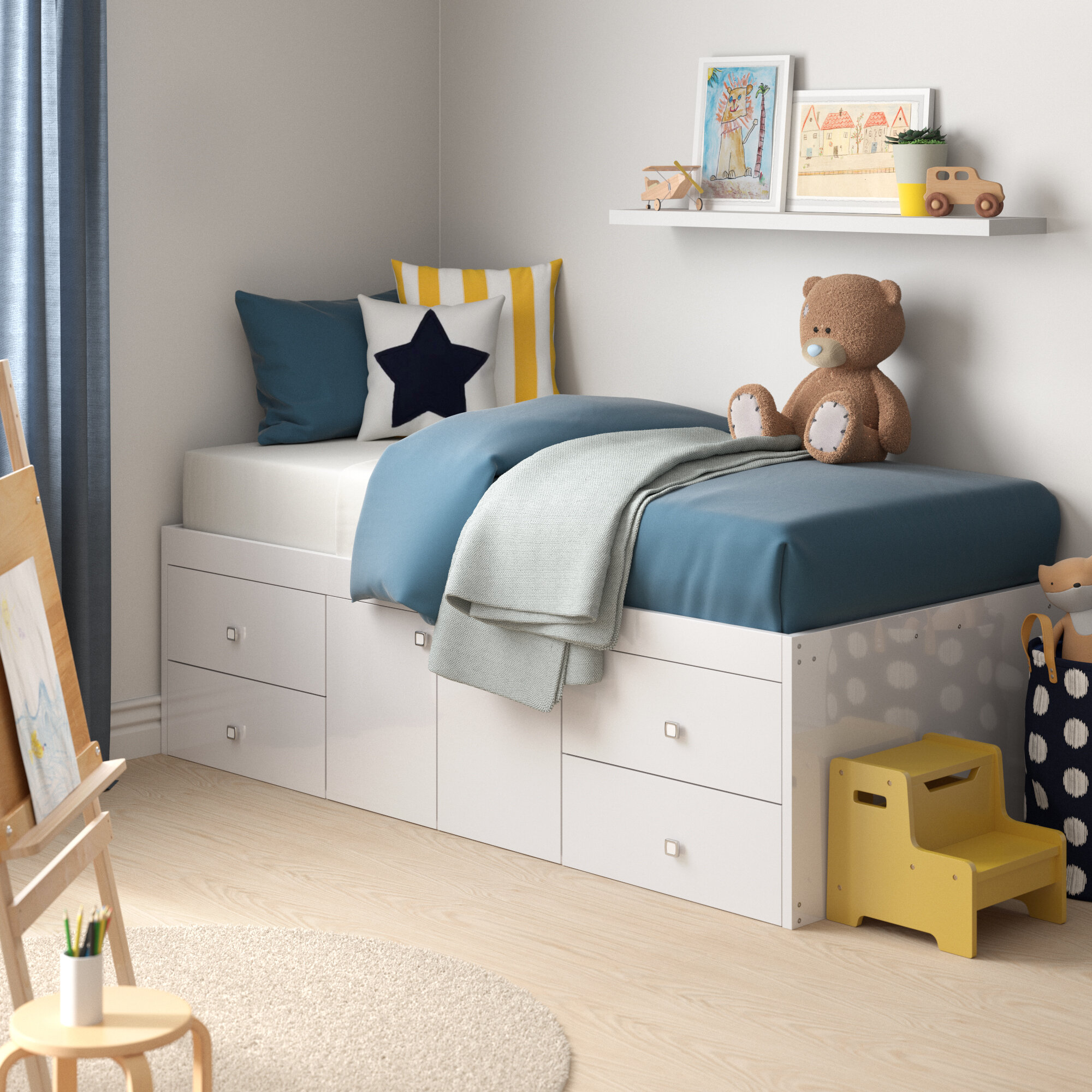 Picture of: Zipcode Design Klara Single Cabin Bed With Drawers Reviews