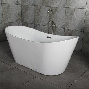 small freestanding soaking tub. 67  x 32 Freestanding Soaking Bathtub Small Tub Wayfair