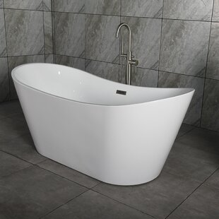 Salmon 59 X 29 Freestanding Bath Therapy Bathtub