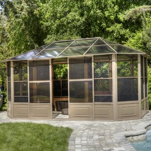 Gazebo Penguin All Season Solarium 18 Ft. W x 12 Ft. D Aluminum Patio Gazebo