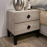Vitagliano 2 - Drawer Nightstand in Beige/Espresso by Foundry Select