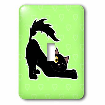 3drose Painted Cat 1 Gang Toggle Light Switch Wall Plate Wayfair