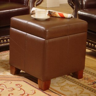 Read Reviews Leather Storage Ottoman By Lanza