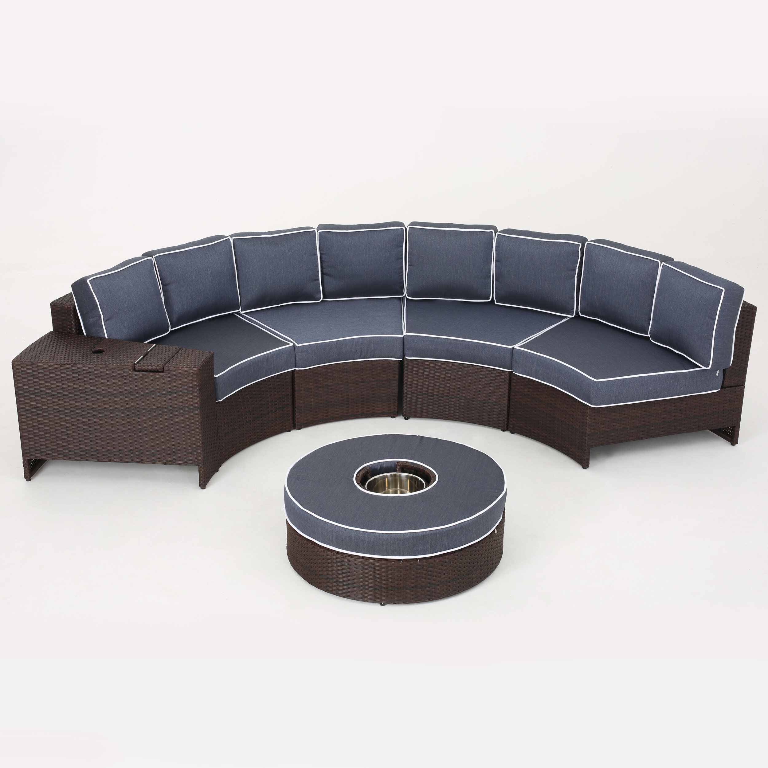 Bermuda 6 Piece Sectional Seating Group with Cushions