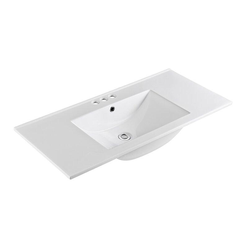 Bellaterra Home Ceramic 48 Single Bathroom Vanity Top Wayfair