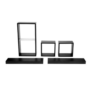 Melannco 5 Piece Shelf and Cube Set