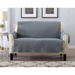 Great Bay Home Box Cushion Loveseat Slipcover by Home Fashion Designs