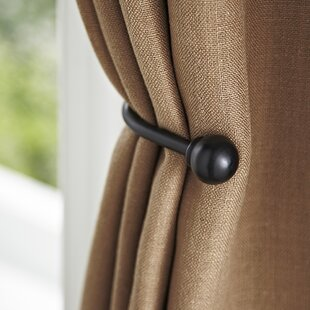 Matte Black Drapery Curtain Holdback & Matte Black Dinnerware | Wayfair