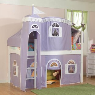 Great Price Bonneau Traditional Twin Low Loft Bed with Wood Frame ByHarriet Bee