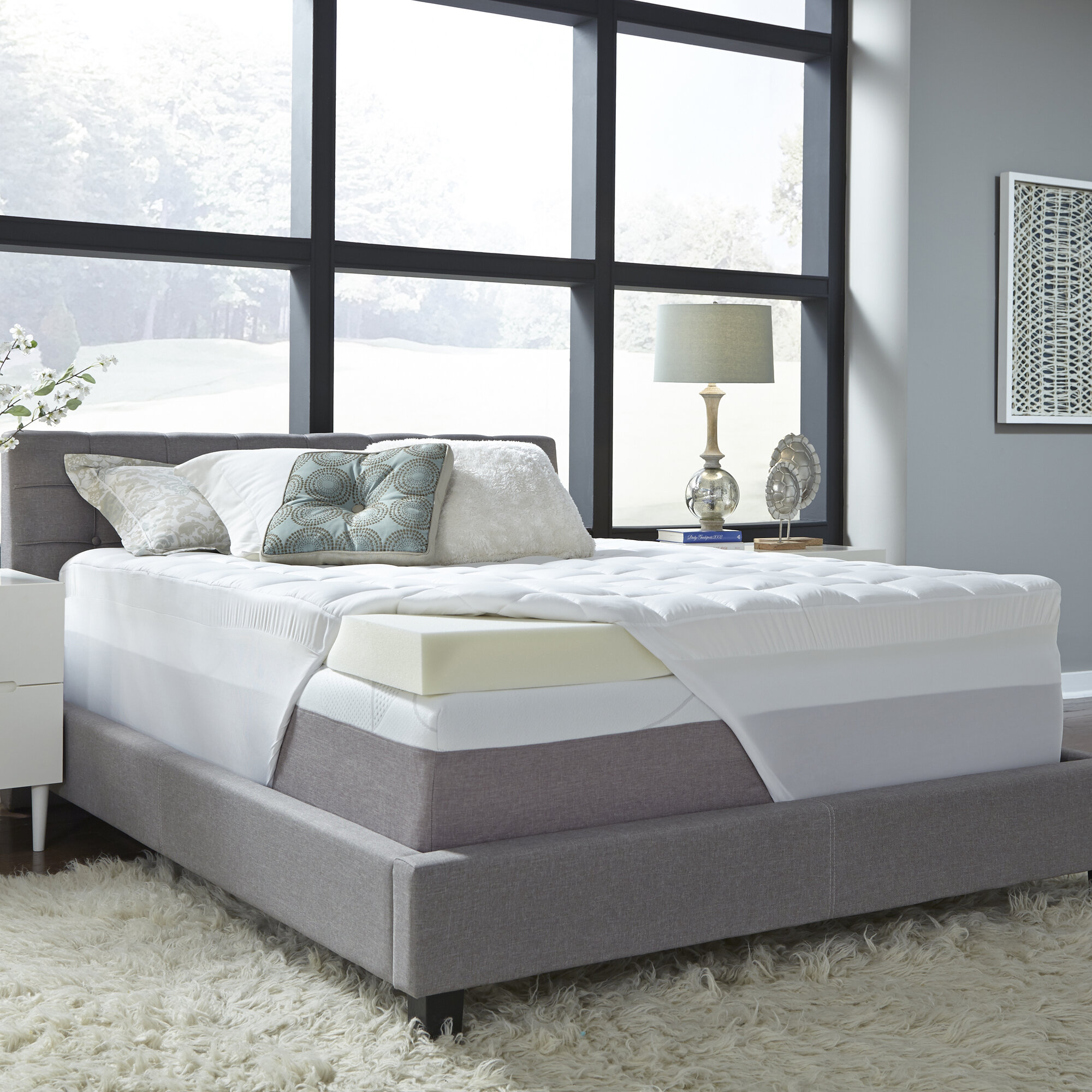 Coprimaterasso Memory Foam 5 Cm.Comforpedic Loft From Beautyrest 5 5 Certipur U S Certified Memory Foam Mattress Topper Reviews Wayfair