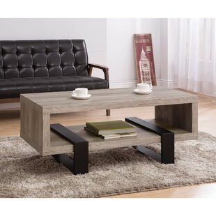 Lando Driftwood Open Shelf Coffee Table