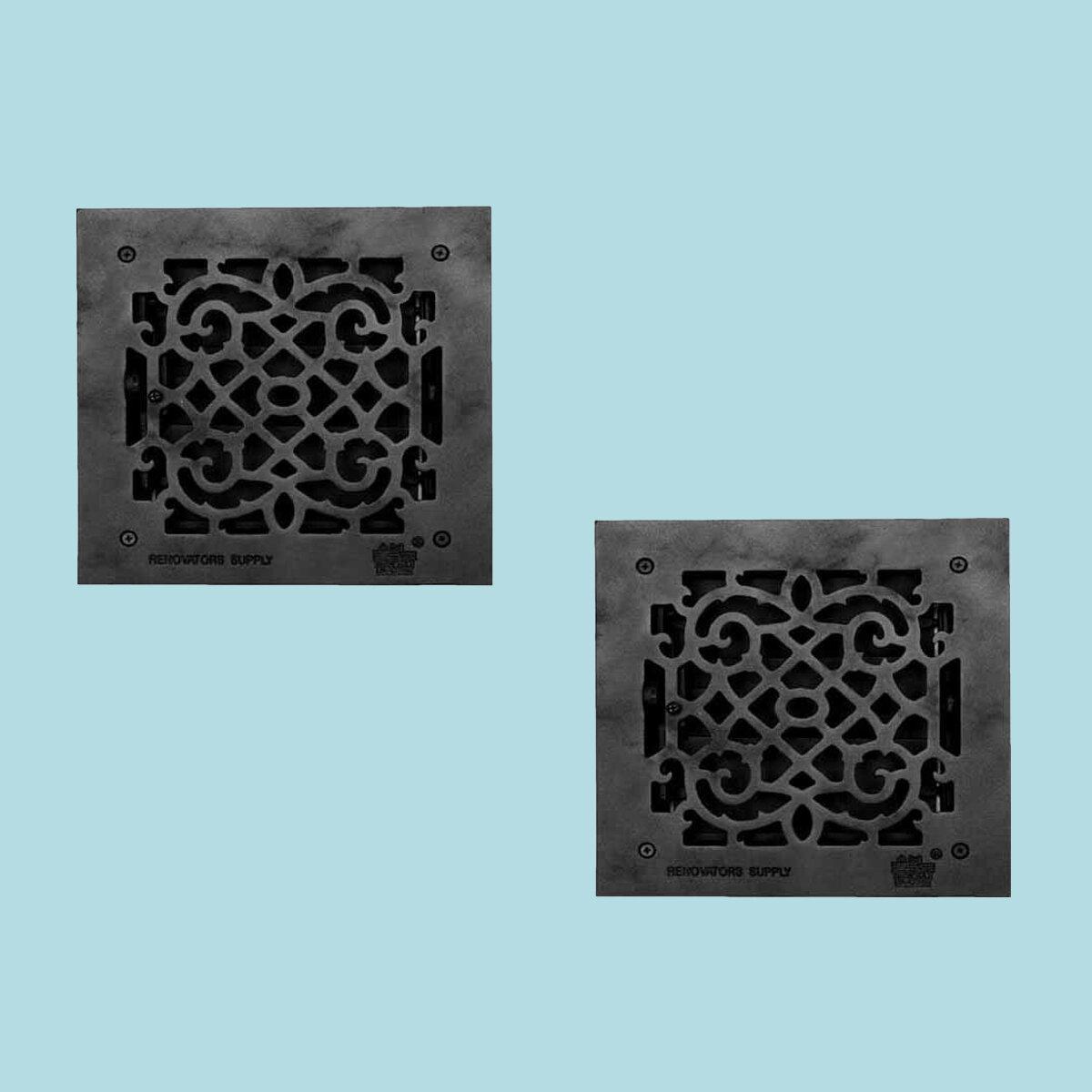 The Renovators Supply Inc 8 X 8 Aluminum Floor Heat Register Louver Vent Cast Duct In Black Wayfair