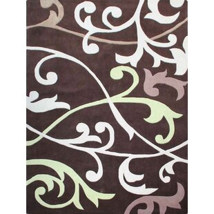 Compare Holyfield Hand-Tufted Brown/White Area Rug By Red Barrel Studio