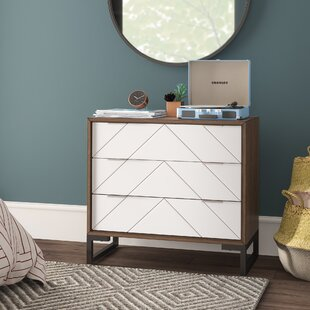 Crosland 3 Drawer Chest by Mercury Row Design