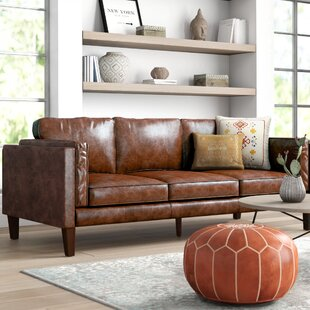 Price Check Tinney Leather Sofa by Mistana Reviews (2019) & Buyer's Guide