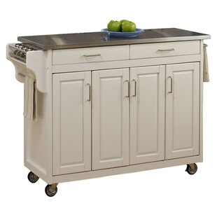 Regiene Kitchen Island with Stainless Steel Top