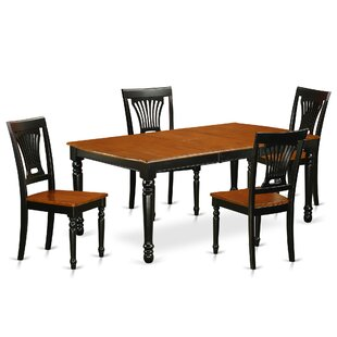 Pimentel 5 Piece Solid Wood Dining Set by August Grove Salet