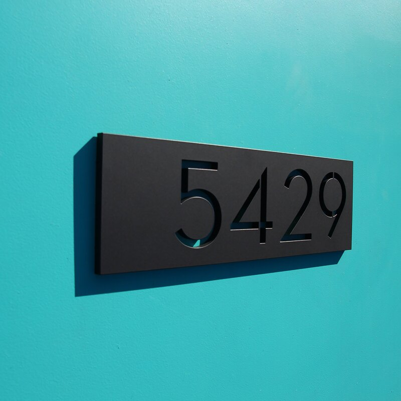 Modern Wood And Concrete Address Plaque H House Numbers Sign Realtor Closing Gift Modern House Numbers Personalized Housewarming Gift Custom House Address Sign Home Kitchen Home Décor