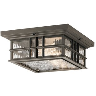 Latitude Run Howard Beach Square 2-Light Outdoor Flush Mount