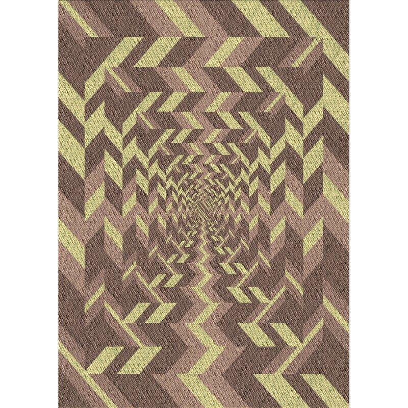 East Urban Home Orson Geometric Wool Brown Area Rug Wayfair